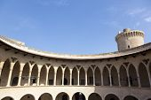 Cloisters of Bellver castle in Palma de Mallorca, Balearic islands, Spain