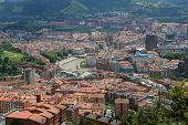 picture of basque country  - Panorama on the center of Bilbao Basque country Spain - JPG