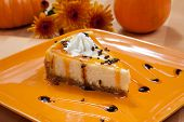 Autumn Cheesecake And Pumpkins