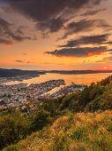 Cityspace Of Bergen, Panoramic View