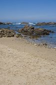 Rocky Coastine of South Africa on clear day