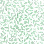 Leaves and swirls textile seamless pattern background