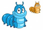 foto of caterpillar cartoon  - Cartoon caterpillar insect character - JPG