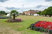 HAMPTON COURT, UK - AUGUST 03, 2014 - Family Activity Festival at Hampton Court Palace, UK  on Augus