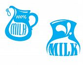 Milk emblems and symbols