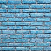 Background of the blue brick wall texture