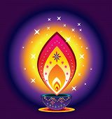 foto of kolam  - Indian new year diwali candle light illustration - JPG
