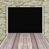 Blank Wood Billboard  For New Advertisement