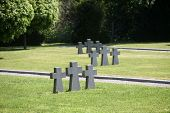 ZAGREB, CROATIA - APRIL 29: German Military Graves, Mirogoj cemetery in Zagreb, Croatia on April 29,