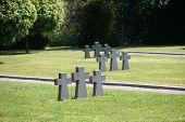 ZAGREB, CROATIA - APRIL 29: German Military Graves, Mirogoj cemetery in Zagreb, Croatia on April 29,