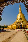 stock photo of tabernacle  - Covered with gold leaf Shwemawdaw Pagoda - JPG
