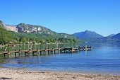 picture of annecy  - view of Lake Annecy in the French Alps - JPG