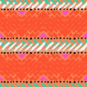 Grunge hand painted vector seamless pattern