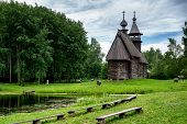 Wooden Church In Russia.