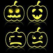Halloween Emotion Of Pumkin