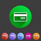 Bank credit card flat icon