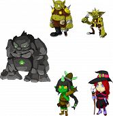 foto of troll  - A set of fantasy characters from trolls - JPG