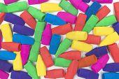 Brightly Colored Pencil Eraser Background