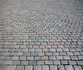 Cobble stone street texture or background