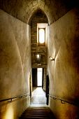 Vintage photo of ancient castle interior