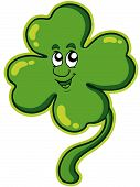 Happy four leaf clover