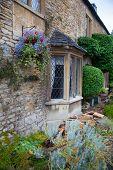 WILTSHIRE, CHIPPENHAM, UK - AUGUST 9, 2014:  house window