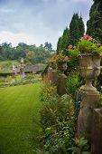 WILTSHIRE, CHIPPENHAM, UK - AUGUST 9, 2014: Park in golf club Castle Combe
