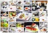 Restaurant food collage