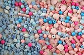 Many different beads as background