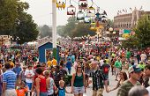 Crowd At Iowa State Fair