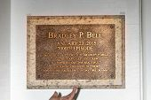 LOS ANGELES - JAN 14:  Bradley P. Bell Stage Plaque as the  Bold and Beautiful Celebrates 7000th Show at a CBS Television City on January 14, 2015 in Los Angeles, CA