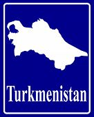 Silhouette Map Of Turkmenistan