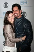 LOS ANGELES - JAN 14:  Heather Tom, Don Diamont as the  Bold and Beautiful Celebrates 7000th Show at a CBS Television City on January 14, 2015 in Los Angeles, CA