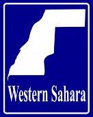 Silhouette Map Of Western Sahara