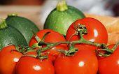 Tomatoes and zucchini