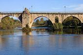 ancient roman bridge of Ponte da Barca in the north of portugal