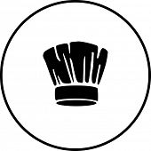 stock photo of chef cap  - chef hat symbol - JPG