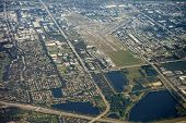 aerial view of ft lauderdale, florida and international airport