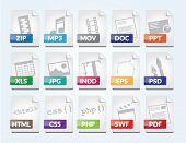 Modern File Format Icon Set