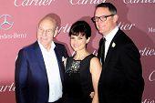 PALM SPRINGS, CA - JAN 3: Patrick Stewart, Carla Gugino & Matthew Lillard arrives at the 2015 Palm Springs International Film Festival Awards Gala on January 3, 2015 in Palm Springs, CA.