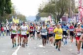 Large Field Of Runners Competing In 2014 Comrades Marathon