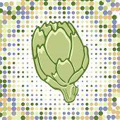 A colorful illustration of fresh artichoke
