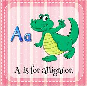 A letter A for alligator