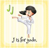 stock photo of judo  - A letter J for judo - JPG