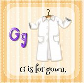 A letter G which stands for gown