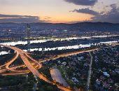Vienna cityscape at night