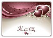 Elegant Valentine's Card - EPS 10