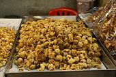 Pork Snack, Pork Rind, Pork Scratching Or Pork Crackling (thai Style Food)