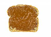 Whole Wheat Toast With Chocolate Hazelnut Spread