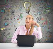 Businesswoman planning